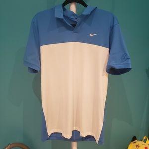 BNWT Nike Blue White Golf Shirt
